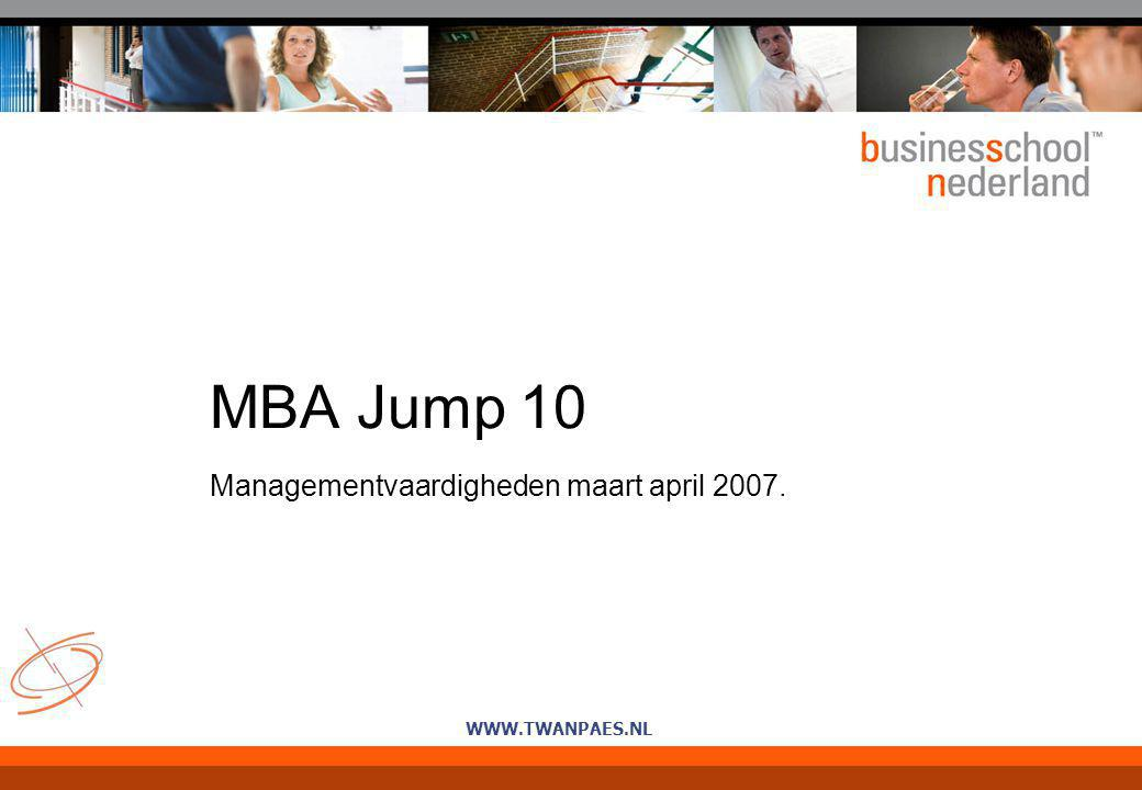 Managementvaardigheden maart april 2007.
