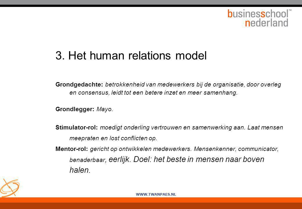 3. Het human relations model