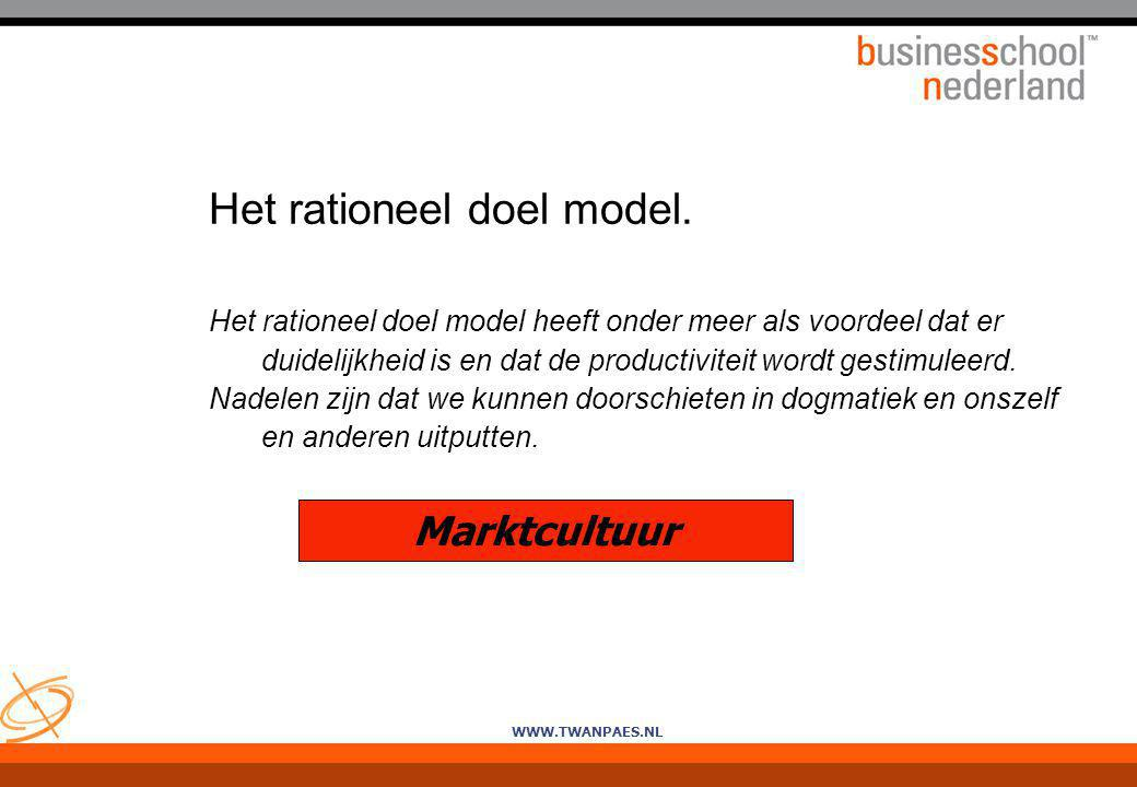 Het rationeel doel model.