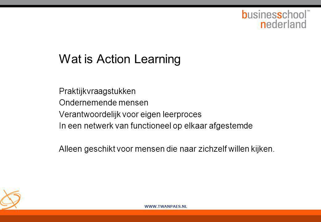 Wat is Action Learning Praktijkvraagstukken Ondernemende mensen