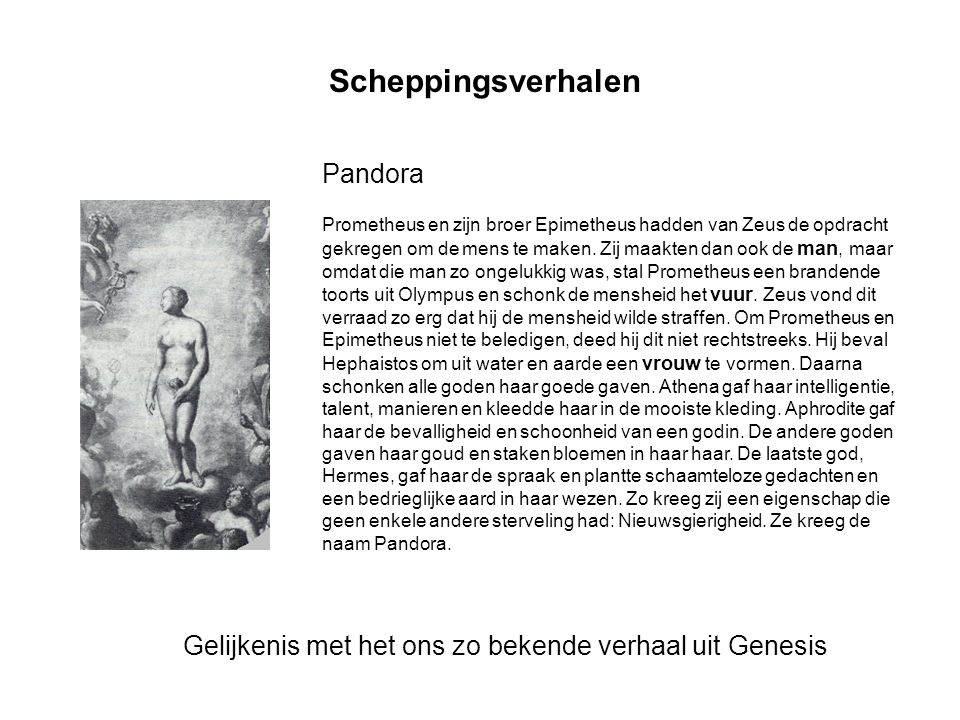 Scheppingsverhalen Pandora