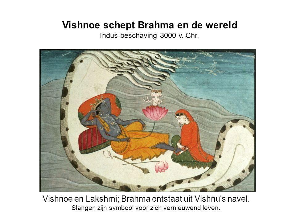 Vishnoe schept Brahma en de wereld