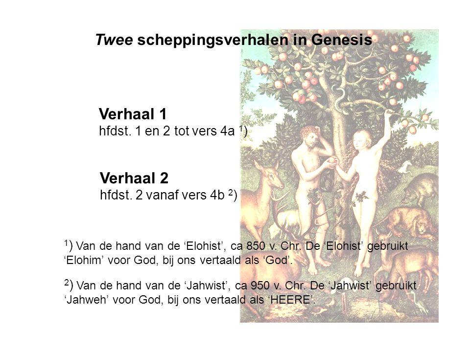 Twee scheppingsverhalen in Genesis