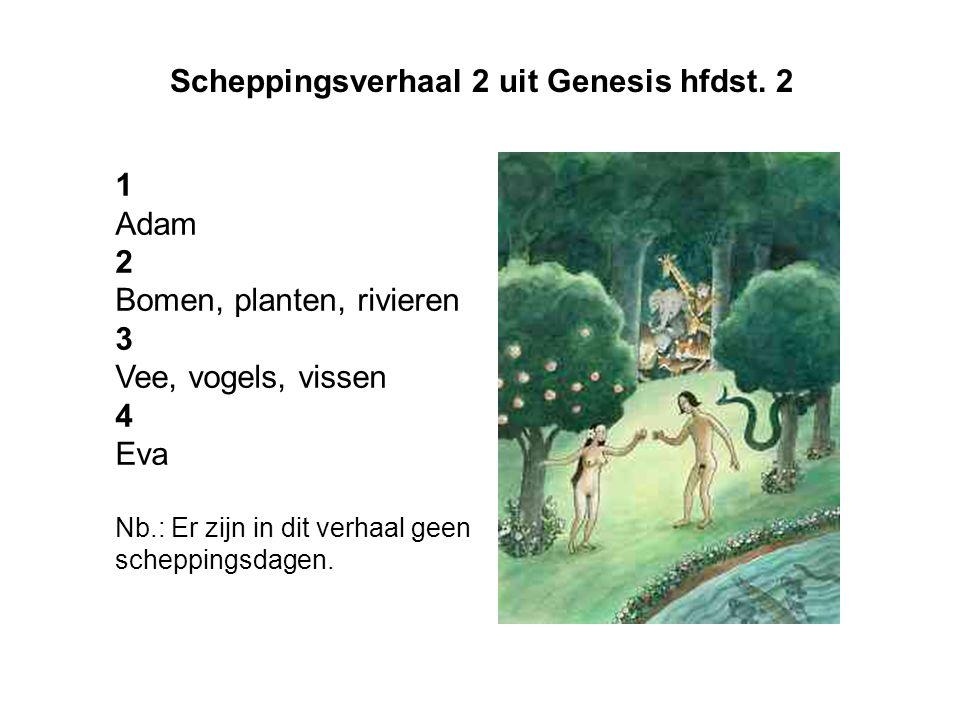 Scheppingsverhaal 2 uit Genesis hfdst. 2