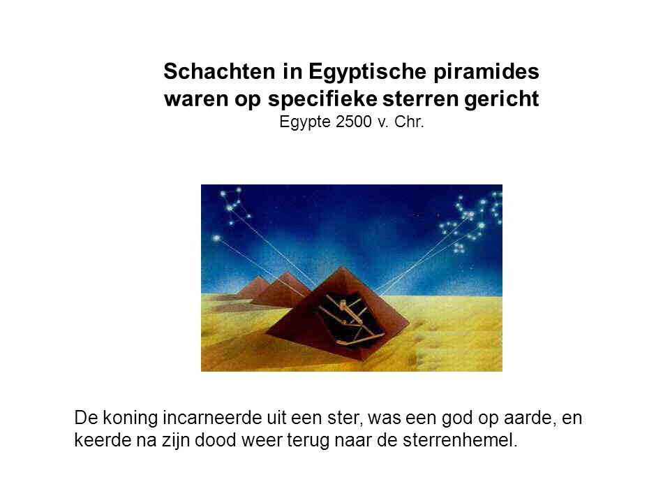 Schachten in Egyptische piramides waren op specifieke sterren gericht