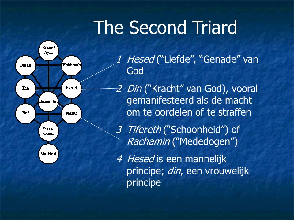 The Second Triard Hesed ( Liefde , Genade van God