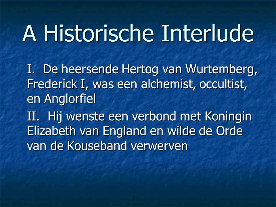 A Historische Interlude