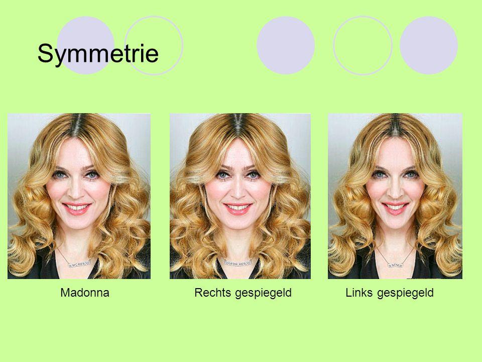 Symmetrie Madonna Rechts gespiegeld Links gespiegeld