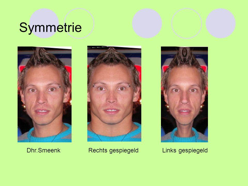 Symmetrie Dhr.Smeenk Rechts gespiegeld Links gespiegeld