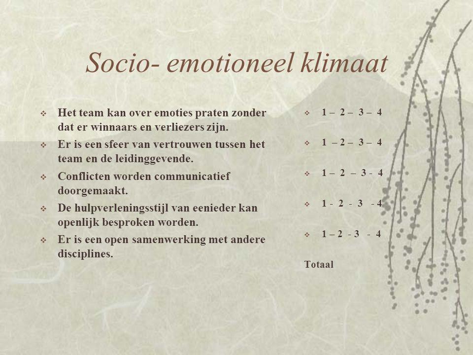 Socio- emotioneel klimaat
