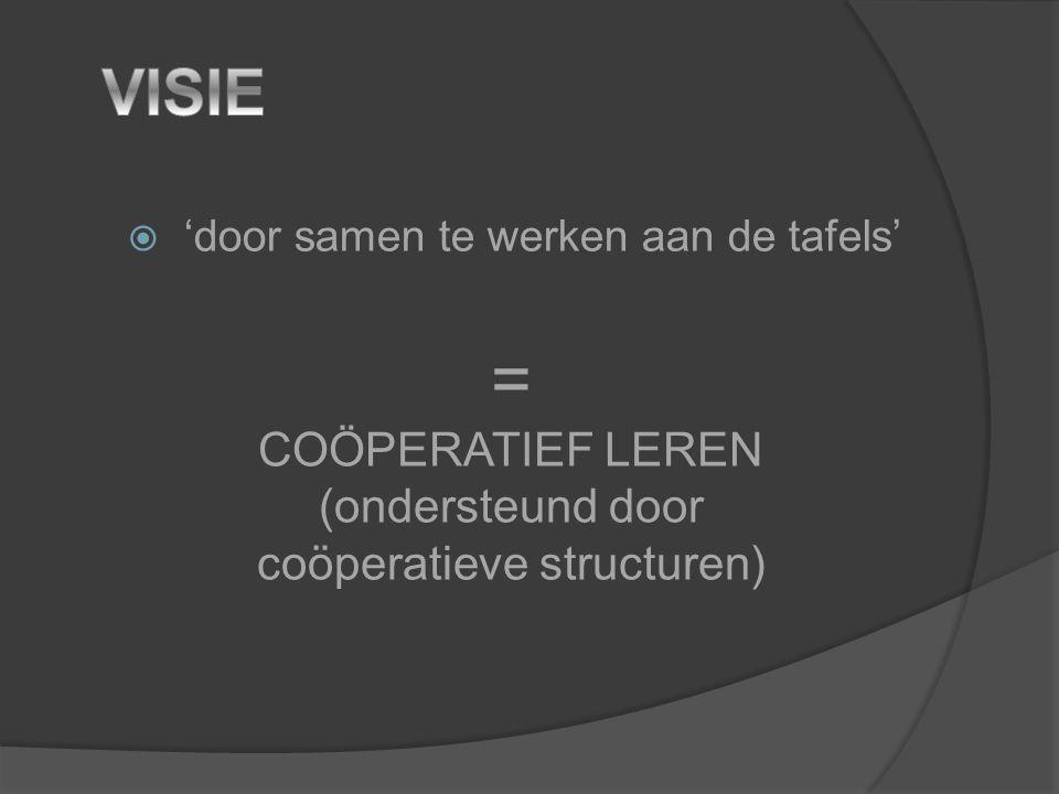 = VISIE COÖPERATIEF LEREN (ondersteund door coöperatieve structuren)