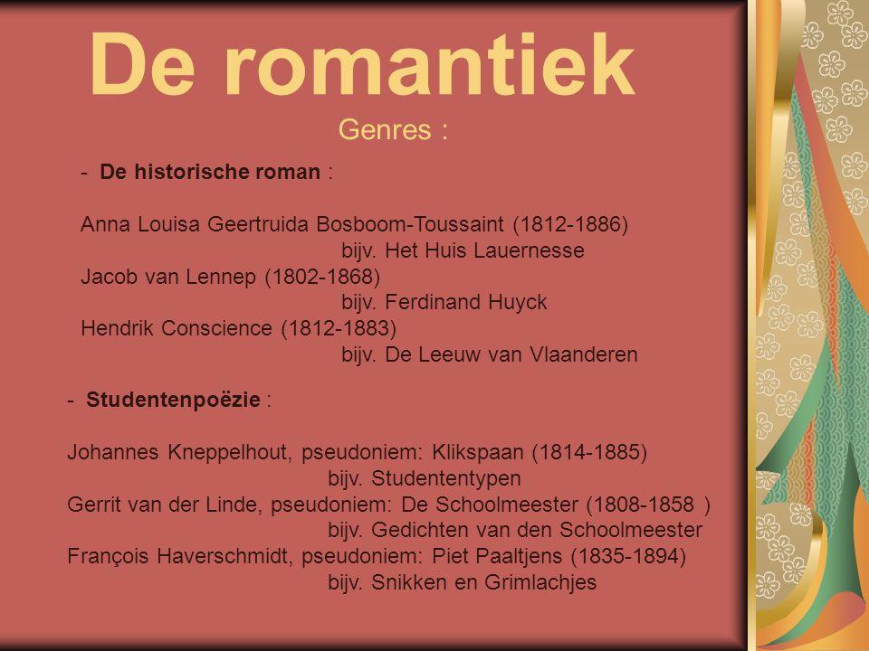 De romantiek Genres : De historische roman :