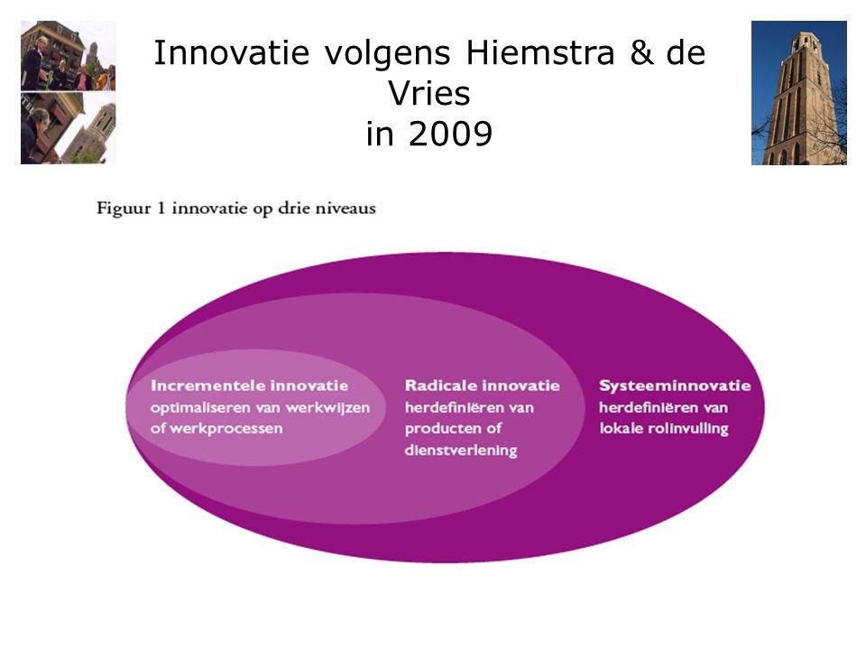 Innovatie volgens Hiemstra & de Vries in 2009