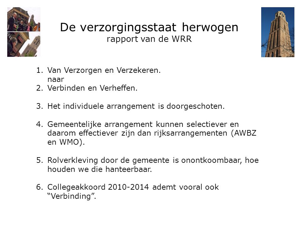 De verzorgingsstaat herwogen rapport van de WRR