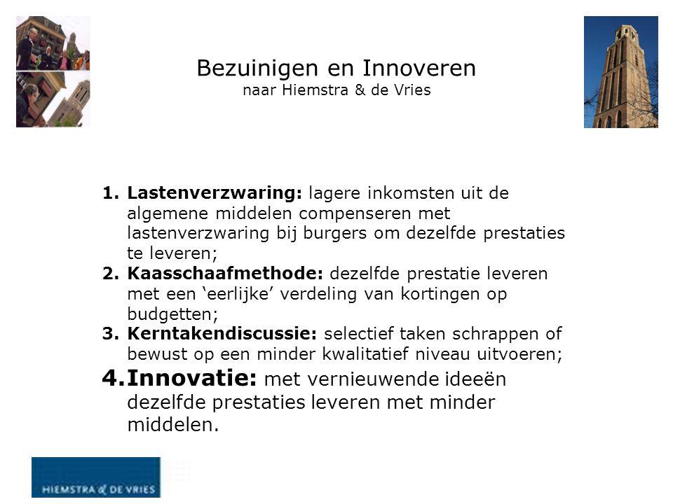 Bezuinigen en Innoveren naar Hiemstra & de Vries