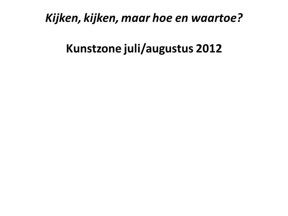Kijken, kijken, maar hoe en waartoe Kunstzone juli/augustus 2012
