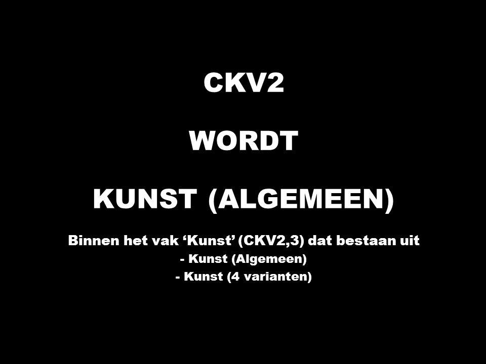 Binnen het vak 'Kunst' (CKV2,3) dat bestaan uit