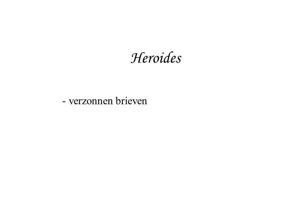 Heroides verzonnen brieven