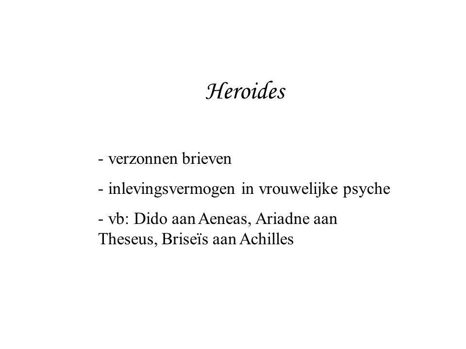 Heroides verzonnen brieven inlevingsvermogen in vrouwelijke psyche