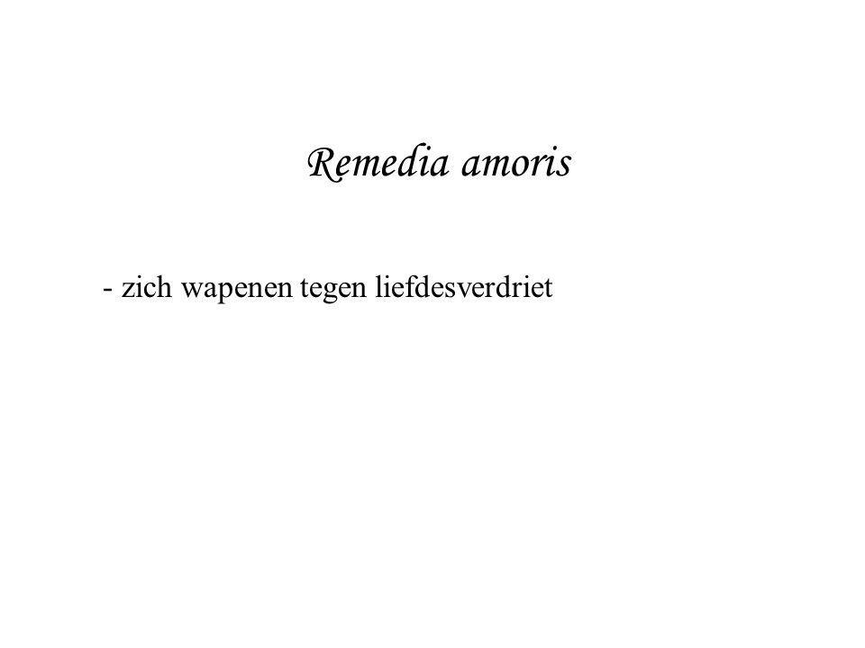 Remedia amoris zich wapenen tegen liefdesverdriet