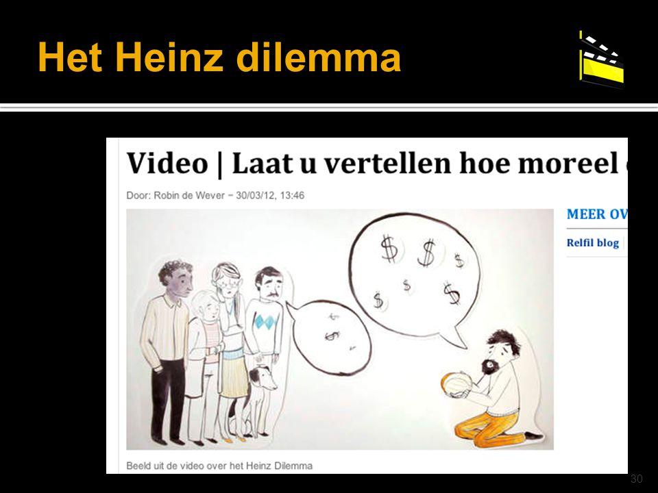 Het Heinz dilemma © drs. Caroline Heijmans | heijmans@ator-opleidingen.nl 30