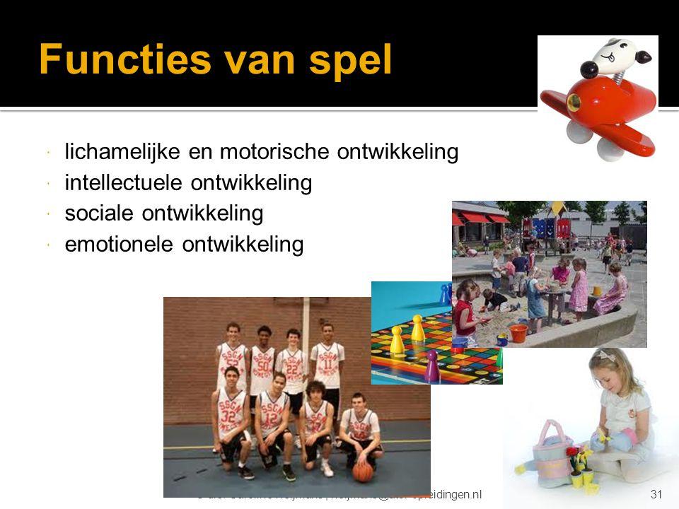 Functies van spel lichamelijke en motorische ontwikkeling