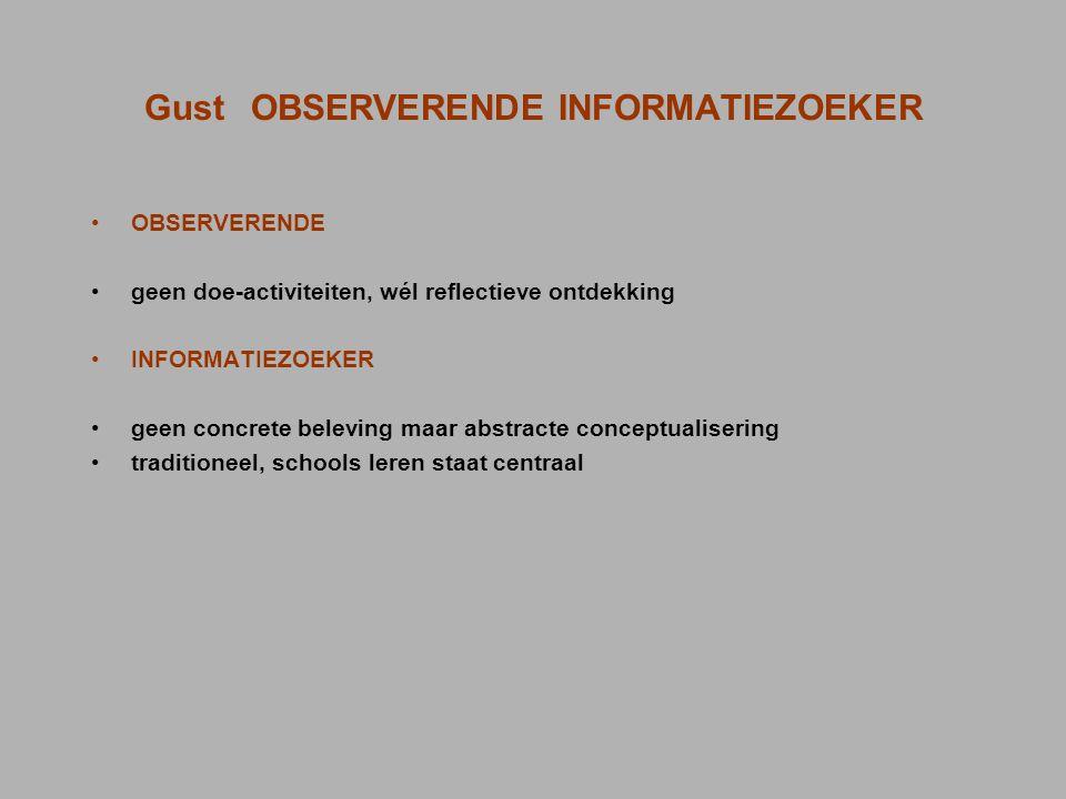Gust OBSERVERENDE INFORMATIEZOEKER