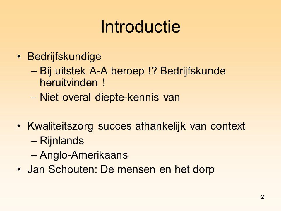 Introductie Bedrijfskundige