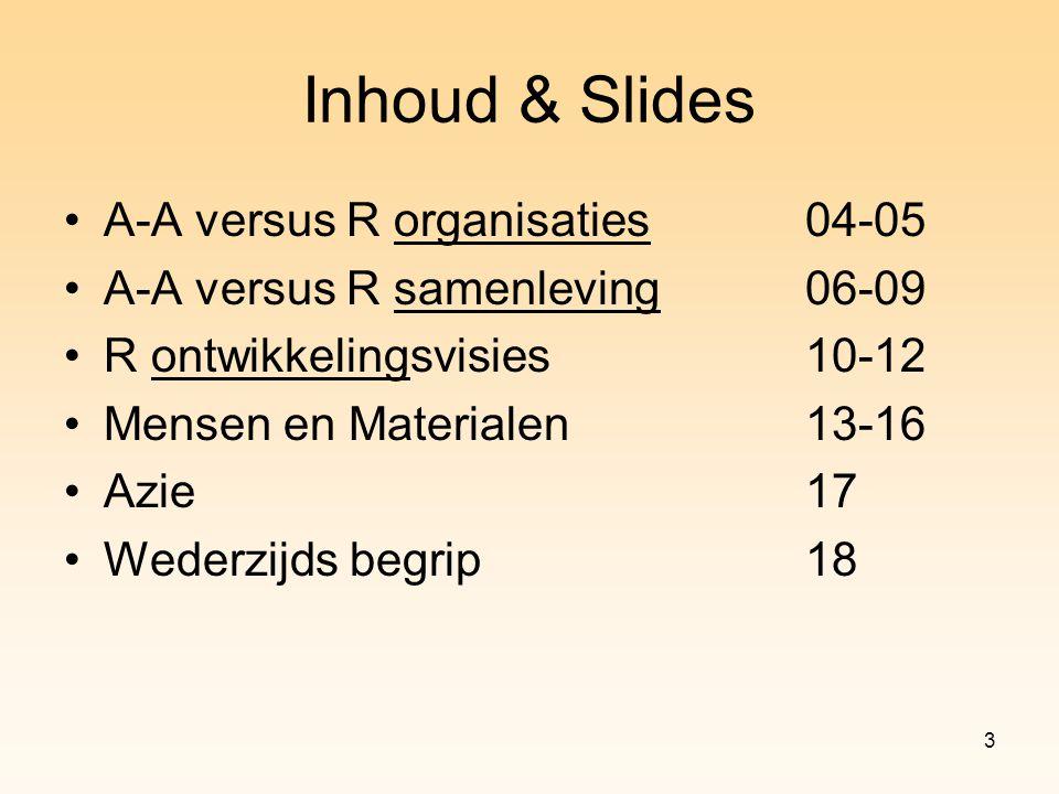 Inhoud & Slides A-A versus R organisaties 04-05