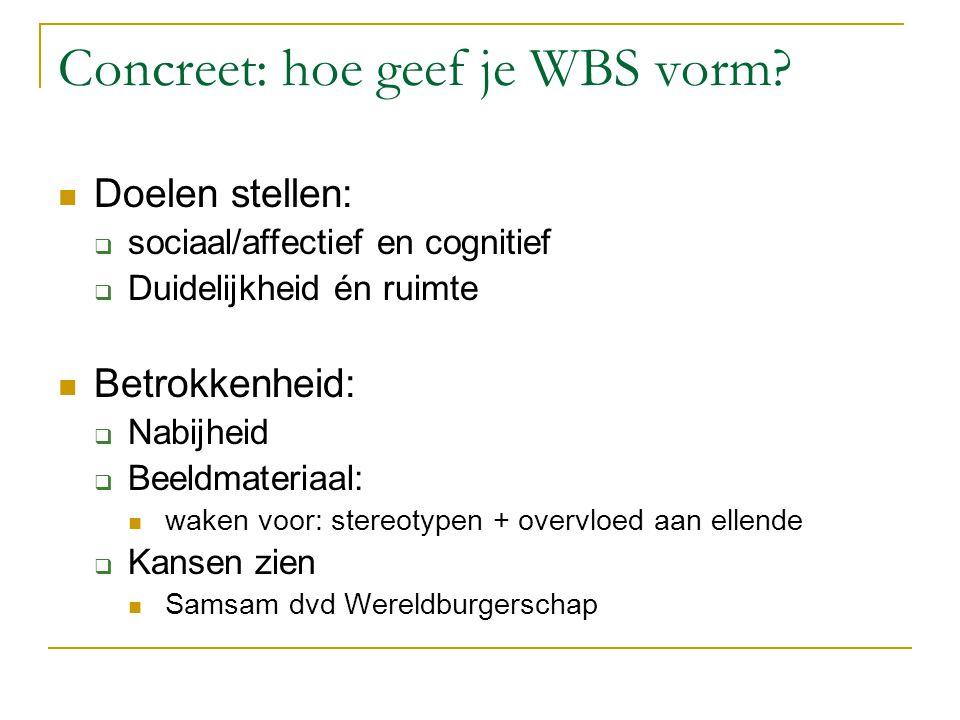 Concreet: hoe geef je WBS vorm