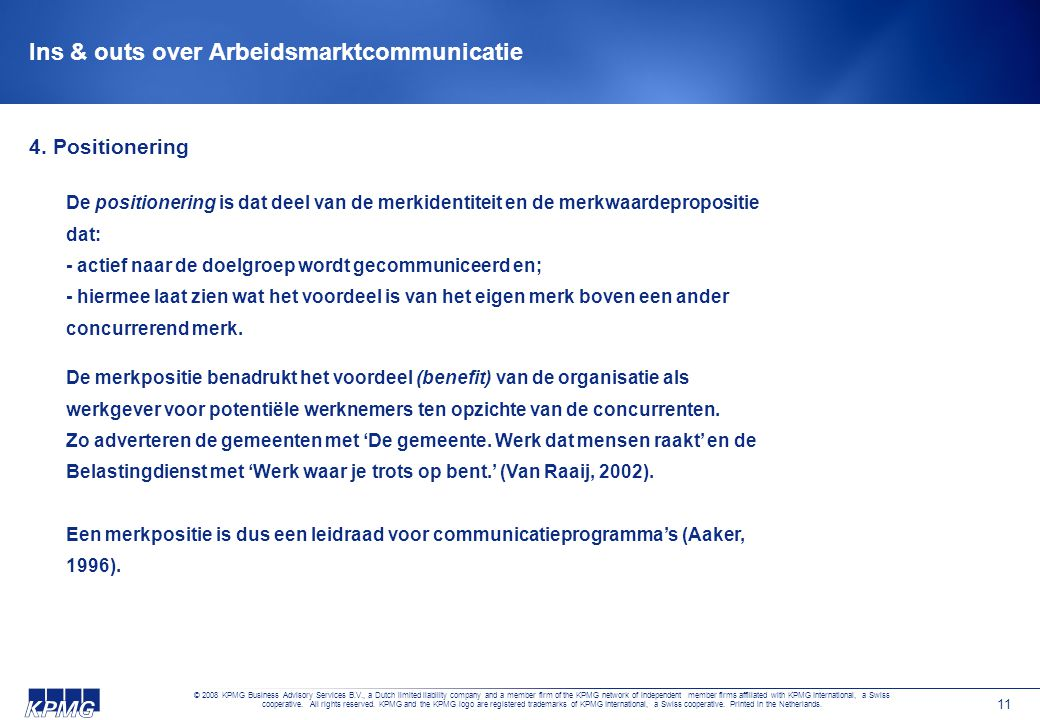Ins & outs over Arbeidsmarktcommunicatie