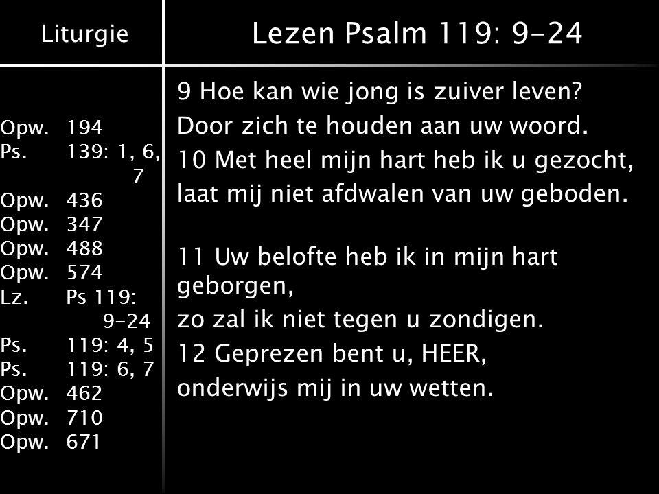 Lezen Psalm 119: 9-24