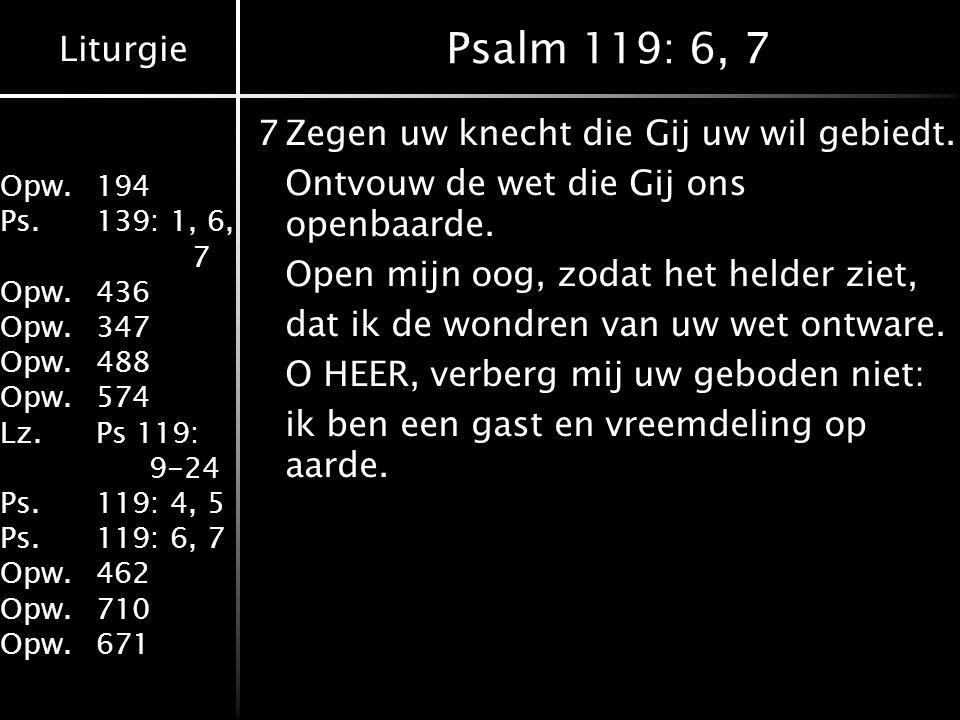 Psalm 119: 6, 7