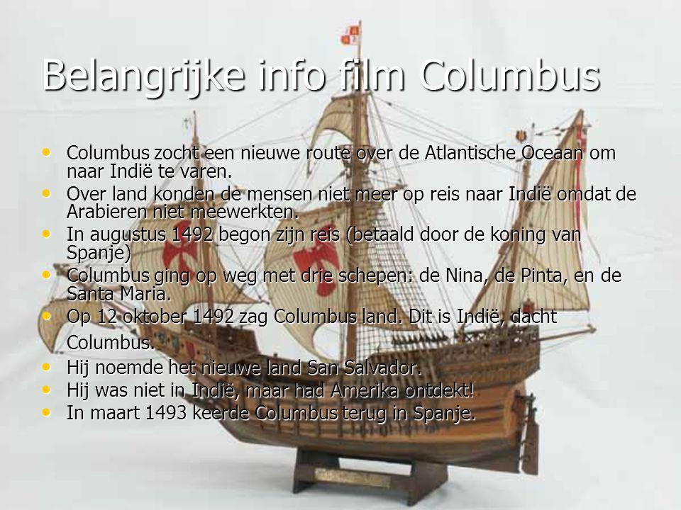Belangrijke info film Columbus