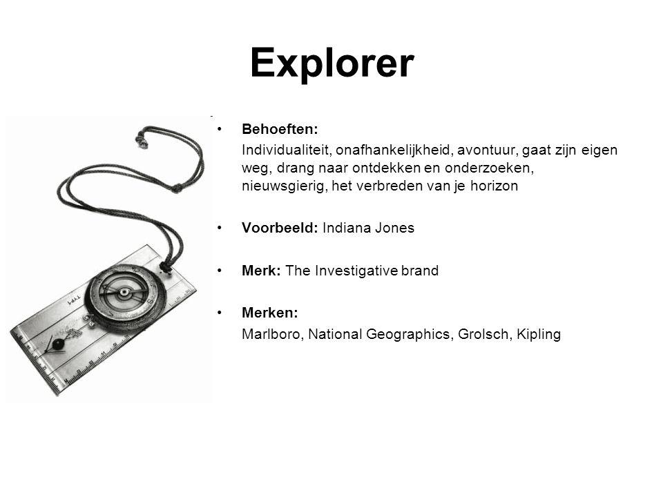 Explorer Behoeften: