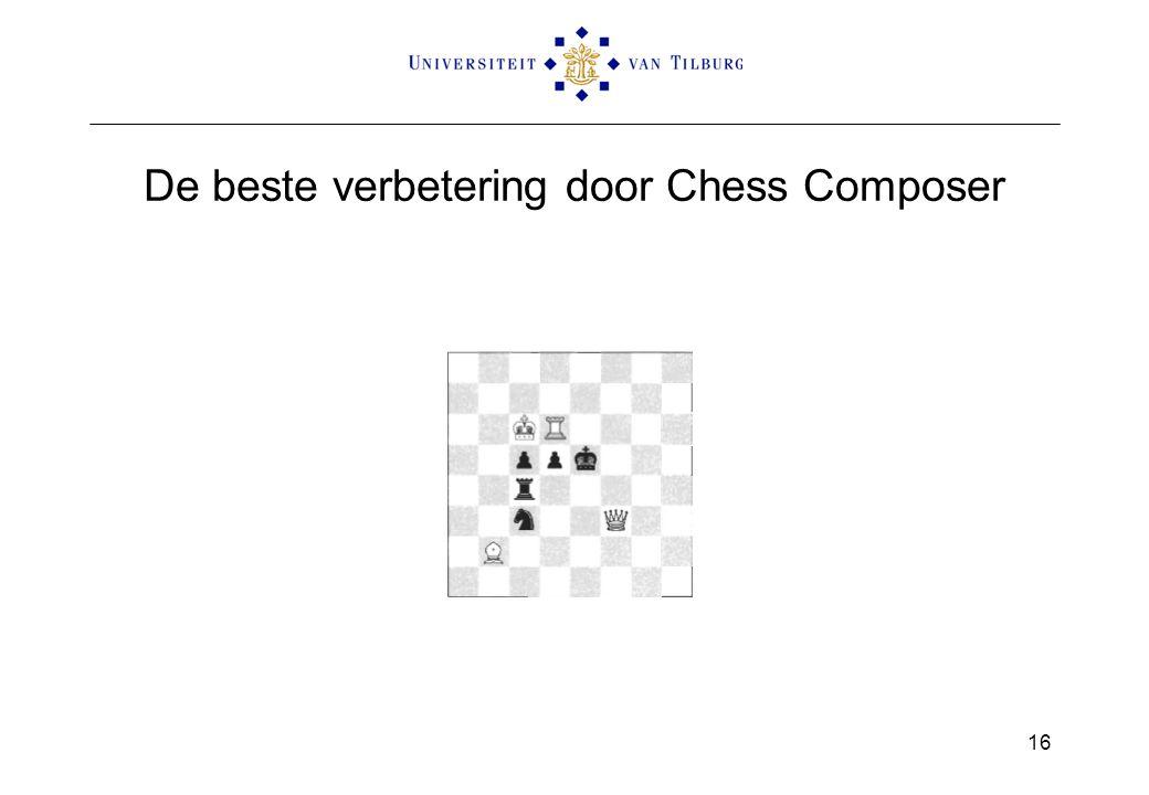 De beste verbetering door Chess Composer