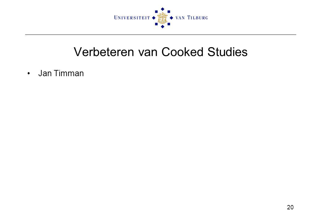 Verbeteren van Cooked Studies