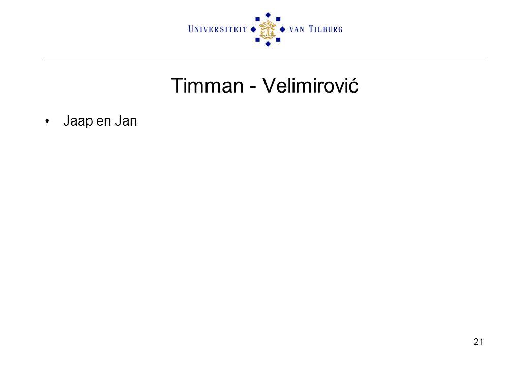 Timman - Velimirović Jaap en Jan