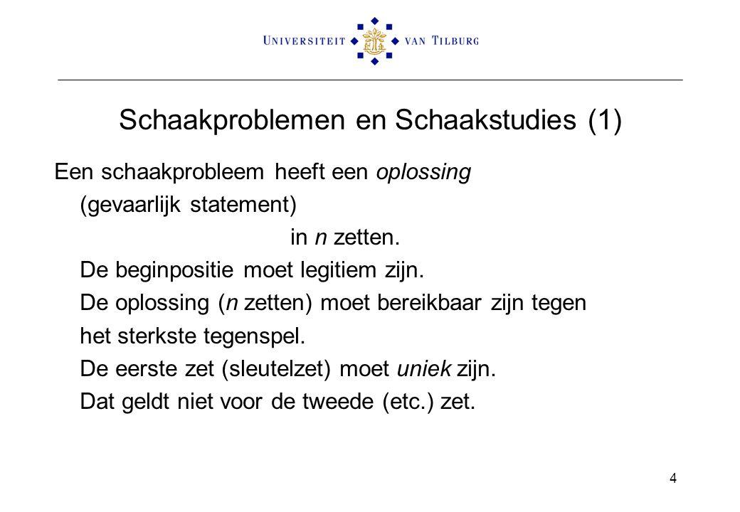 Schaakproblemen en Schaakstudies (1)