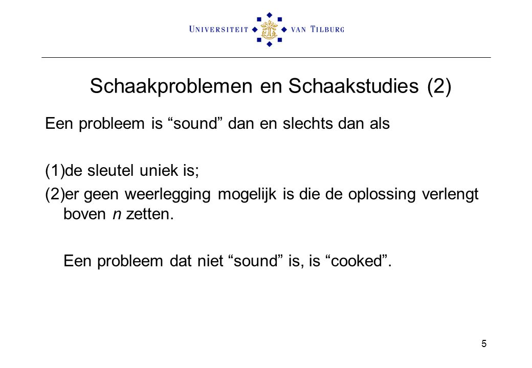 Schaakproblemen en Schaakstudies (2)