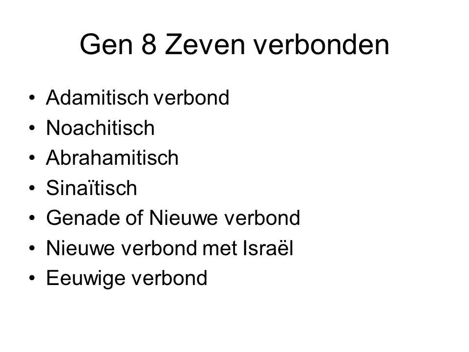 Gen 8 Zeven verbonden Adamitisch verbond Noachitisch Abrahamitisch