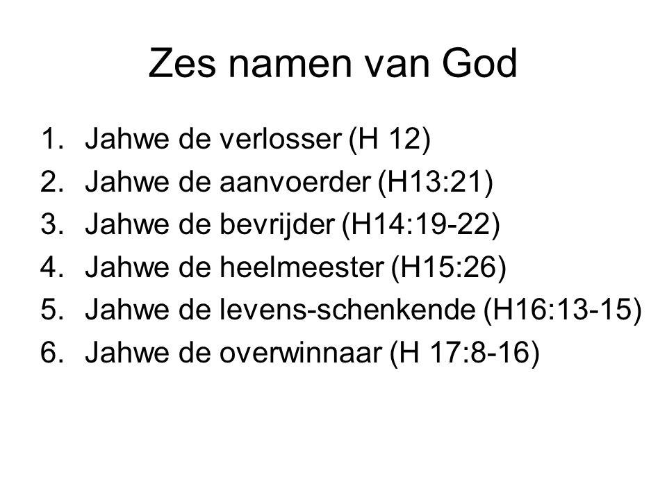 Zes namen van God Jahwe de verlosser (H 12)