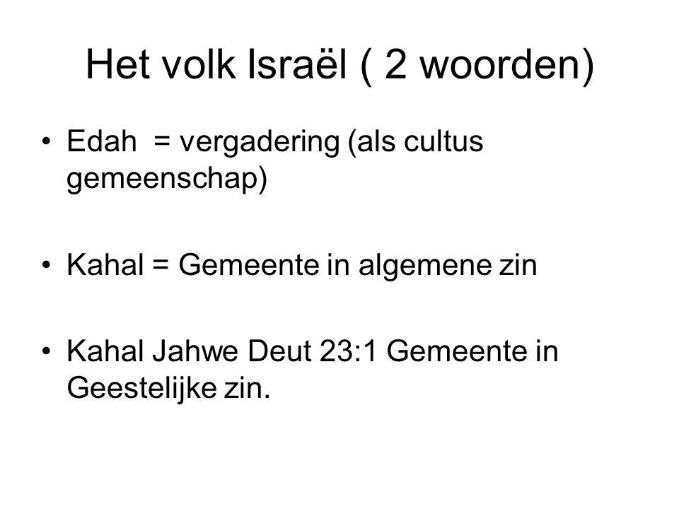 Het volk Israël ( 2 woorden)