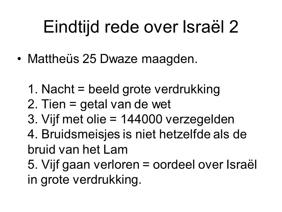 Eindtijd rede over Israël 2