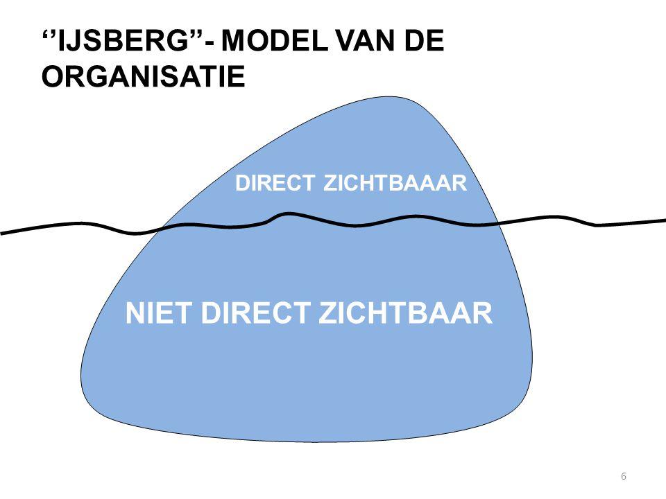 ''IJSBERG''- MODEL VAN DE ORGANISATIE