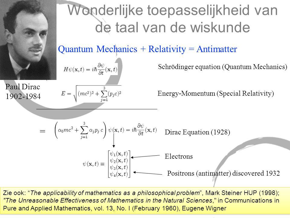 Wonderlijke toepasselijkheid van de taal van de wiskunde