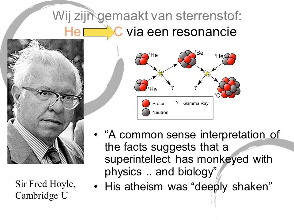 Wij zijn gemaakt van sterrenstof: He C via een resonancie