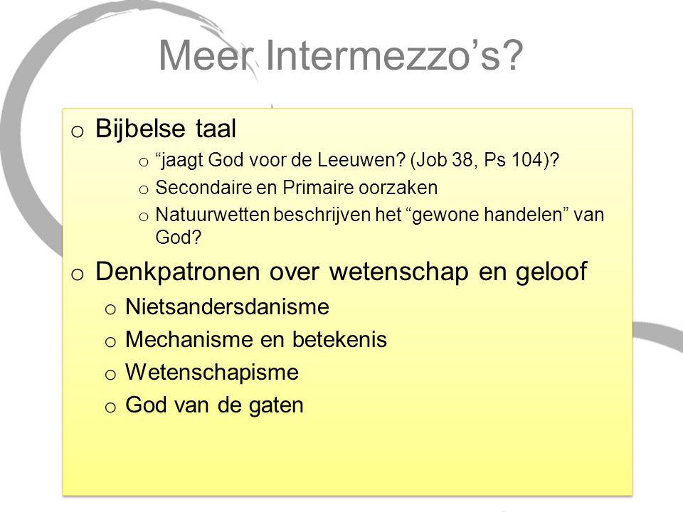 Meer Intermezzo's Bijbelse taal