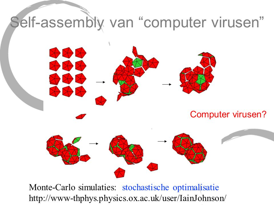 Self-assembly van computer virusen