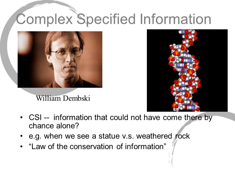 Complex Specified Information